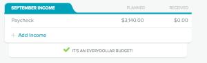 EveryDollar Budget